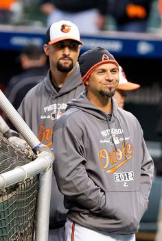Brian Roberts with Nick Markakis  by Keith Allison, via Flickr