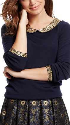 Sparkle sleeves and a sparkle collar? Yes, please! http://rstyle.me/n/rpehhn2bn