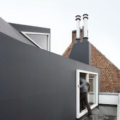 a f a s i a: architecten de vylder vinck taillieu Attic Loft, Attic Conversion, Built Environment, Exterior, Windows, Places, Extensions, Design, Preserve