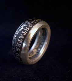 Bague Ring Coin 1 Morgan Dollar 1921 Argent 900 par Mademyring