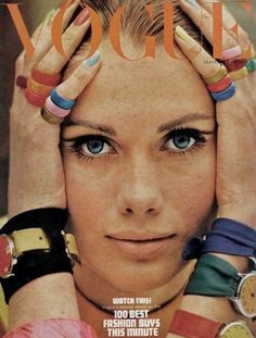 Vogue september 1966 .... Amazing similarities to today's nails, jewelry and makeup. Awesome.