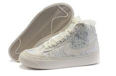 Nike Blazer Haute Fourrure Blanc Femme