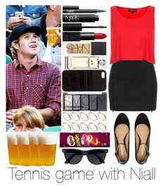 """Tennis game with Niall"" by sassy-queen01 ❤ liked on Polyvore featuring NARS Cosmetics, Topshop, Chanel, H&M, The Case Factory, ASOS, River Island and Kinto"