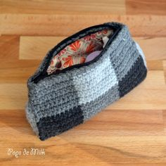 A cute and functional crochet pouch for miscellaneous items!