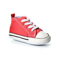 Baby Converse First Star Crib Shoes, Kids Unisex, Size: 4 Baby, Red