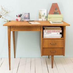 Bureau vintage années 50 sur Le Petit Florilège - 50's vintage desk