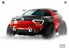 Renault Concept design sketch by Vladimir Schitt