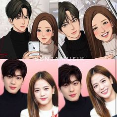 The real definition of Beauty with Brain = Kim Jisoo All About Kim J… # Acak # amreading # books # wattpad Anime Couples Drawings, Cute Anime Couples, Dance Kpop, Iphone Wallpaper Quotes Love, Webtoon Comics, Handsome Anime, Digital Art Girl, Character Portraits, Look Alike