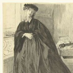 Portret van Finette, James Abbott McNeill Whistler, 1859 - Rijksmuseum