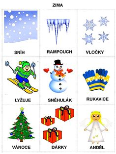Pro Šíšu: Období JARO Christmas Activities For Toddlers, Winter Crafts For Kids, Preschool Activities, Weather For Kids, Learning English For Kids, Toddler Christmas, Home Schooling, Adult Coloring Pages, Winter Time