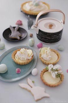 Fräulein Klein : frühlingsfrische Zitronen-Frischkäse-Tarte(-lettes...