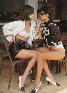 Christy Turlington & Linda Evangelista - Vogue UK