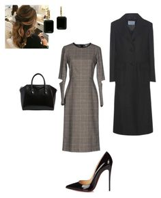 """""""Work"""" by cgraham1 on Polyvore featuring Virna Drò, Christian Louboutin, Givenchy, Prada and Joan Hornig"""