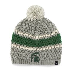 new style 3db3a 820a8 Michigan State Spartans 47 Brand Women s Leslie Knit Gray Hat Michigan  State Hat, Msu Apparel