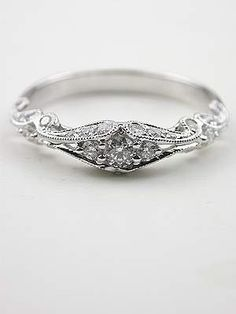 antique design wedding rings