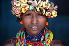 Dziewczynka z Omorate w Etiopii