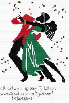 Dancing couple x-stitch Ty Wilson