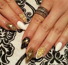 Stiletto shape  Swarovski nails
