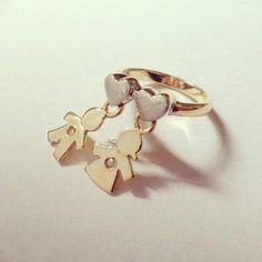 Anel em ouro amarelo 18k e brilhantes! AP351 * peças em ouro somente por encomenda