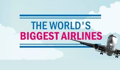 This is a visual description of 22 of the world's biggest air-travel companies. Including the areas they serve, the number of passengers they handle and the types of aircraft they use.