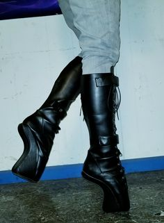 New ballet boots from Wonderheel(eBay). Much easier to walk in than traditional ballet boots.