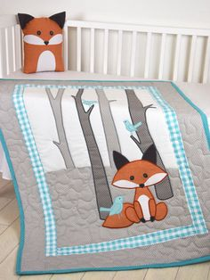 Baby Blankets And Quilts Fox Blanket Fox Nursery Quilt Baby Boy Quilt Boy Crib Bedding Forest Personalized Baby Blankets And Quilts Target Baby Blankets And QuiltsFox Nursery Quilt So we haven't picked a baby name yet but we have decided as a fox for Quilt Baby, Colchas Quilt, Fox Quilt, Baby Quilt Patterns, Applique Quilts, Children's Quilts, Quilt Batting, Quilting Patterns, Sewing Patterns