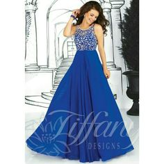 Tiffany'S Royal Blue Gown