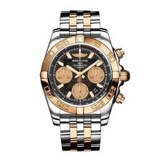 This impressive men's timepiece from Breitling is crafted in breathtaking style with two-tone stainless steel and a precise automatic chronograph movement. A matching two-tone stainless steel adds a d