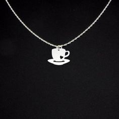 Coffee Cup Necklace Coffee Necklace