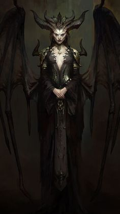 Fantasy Demon, Dark Fantasy Art, Fantasy Girl, Dark Art, Fantasy Character Design, Character Art, Lilith Diablo, Monster Art, Female Monster