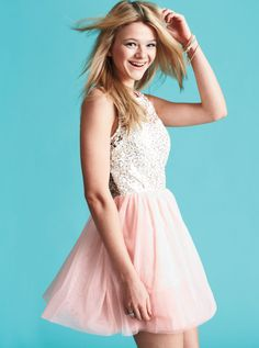 sequin lace tulle dress. I'd wear it!!