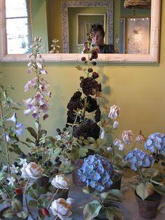 Porcelain flowers at Hollyhock