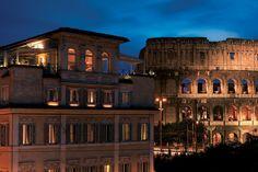 Hotel mit Blick auf Kolosseum
