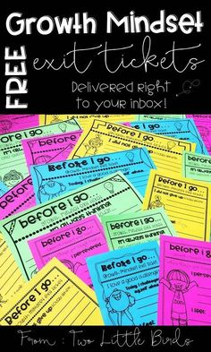 Free growth mindset exit tickets encourage students to reflect on their growth mindset.