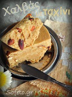 Greek Sweets, Greek Desserts, Greek Recipes, Desert Recipes, Healthy Desserts, Delicious Desserts, Healthy Foods, Tahini, Stevia