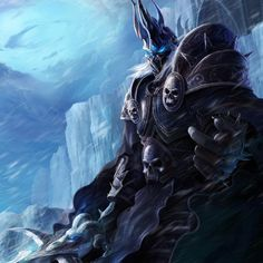 """""""I will freeze your from within, until all that remains is an icy husk!"""" #wow #warcraft #worldofwarcraft #arthas #lichking #WotLK #wrathofthelichking #scourge #deathknight #ICC #art #fanart"""