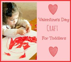 Easy Valentine's Day Heart Craft for Toddlers #kidscrafts #kids #crafts