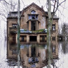 """Abandoned Places on Twitter: """"Abandoned flooded home… """""""