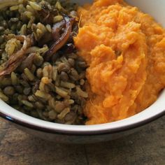 it takes two: one pot mujadara with mashed coconut yams   Everybody Likes Sandwiches