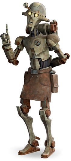 "The architect droid was a model of droid that dated back to the time of the Old Republic and the nascent days of the Jedi Order. Professor Huyang was one such droid. Appearances Star Wars: The Clone Wars – ""A Test of Strength"" (First appearance), Star Wars: The Clone Wars – ""Bound for Rescue"", Star Wars: The Clone Wars – ""A Necessary Bond"""
