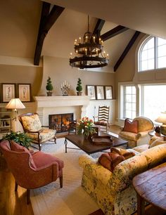 Is this not THE most gorgeous living room EVER? Warm Paint Colors Living Room Design, Pictures, Remodel, Decor and Ideas - page could totally do this in my living room! it looks just like mine! Warm Paint Colors, Paint Colors For Living Room, My Living Room, Cozy Living, Wall Colors, Simple Living, Modern Living, French Country Bedrooms, French Country Living Room