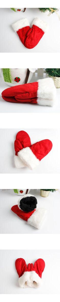 2017 ITFABS Newest Arrivals Fashion Hot Unisex Women Men Fleece Winter Warm Gloves Christmas Warm Casual Fashion Gloves