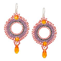 Tropical Sunset Earrings | Fusion Beads Inspiration Gallery  http://s3.amazonaws.com/FusionBeads/pdf/inspiration_95365.pdf