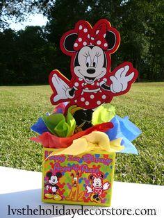 Centros de mesa para fiesta de la Casa de Mickey.   Ideas y material gratis para fiestas y celebraciones Oh My Fiesta!