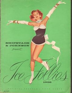 1958 ICE FOLLIES ice skating show program
