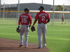 Dustin Pedroia and Xander Boegarts Boston Red Sox.an old fave and a new fave!