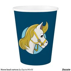 Horse head cartoon paper cup