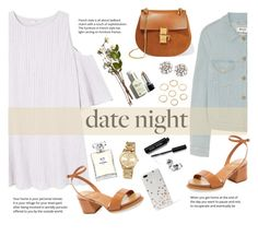 """""""Smokin' Hot: Summer Date Night"""" by blacksky000 ❤ liked on Polyvore featuring Acne Studios, MANGO, Tod's, Chloé, Suzanne Kalan, Chanel, Bobbi Brown Cosmetics, MICHAEL Michael Kors and Kate Spade"""