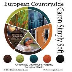 Caron Simply Soft European Countryside Color Combinations