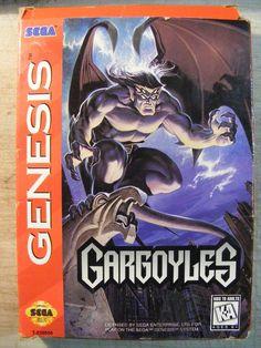 Gargoyles (Sega Genesis, for sale online Gargoyles Cartoon, Playstation, Sega Genesis Games, Pc Engine, Nintendo, Sega Mega Drive, Classic Video Games, Live Action Movie, School Games